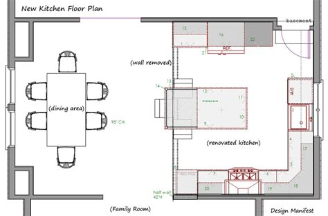 Kitchen Floorplan by Havertown Kitchen Floor Plan Design Manifest House Plans