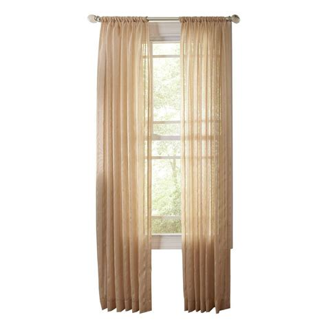 martha stewart living brown alpaca sheer stripe rod pocket