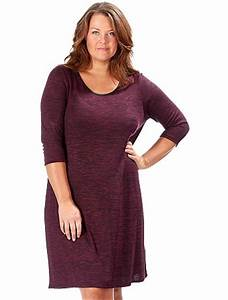 robe mi longue grande taille 46 kiabi prune hiver la With robe longue taille 46