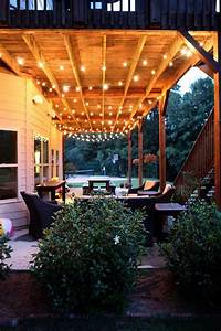 Great idea for lighting under the deck dwell