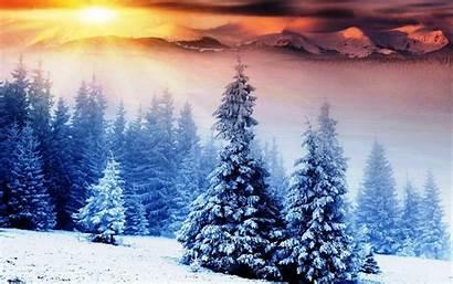 Winter Desktop Wallpapers Sunrise Mountains Desktopwalls Uploaded