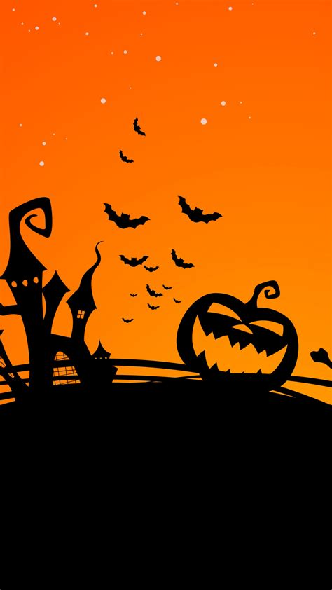 wallpaper halloween pumpkin castle bats halloween witch