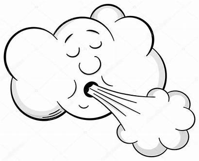 Wind Cartoon Vent Wolk Nuage Souffle Vento