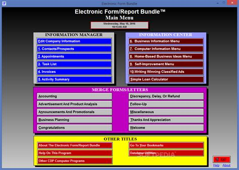 electronic form report bundle download