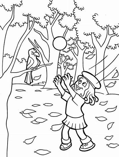 Coloring Lesie Fall Kolorowanka Kolorowanki Jesen Preschool