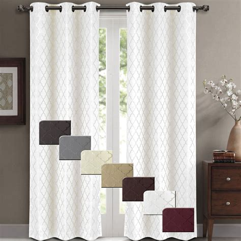 insulated drapery panels willow pair set of 2 jacquard blackout thermal insulated