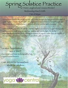 Spring Solstice Workshop And The Kapha Time Of Year