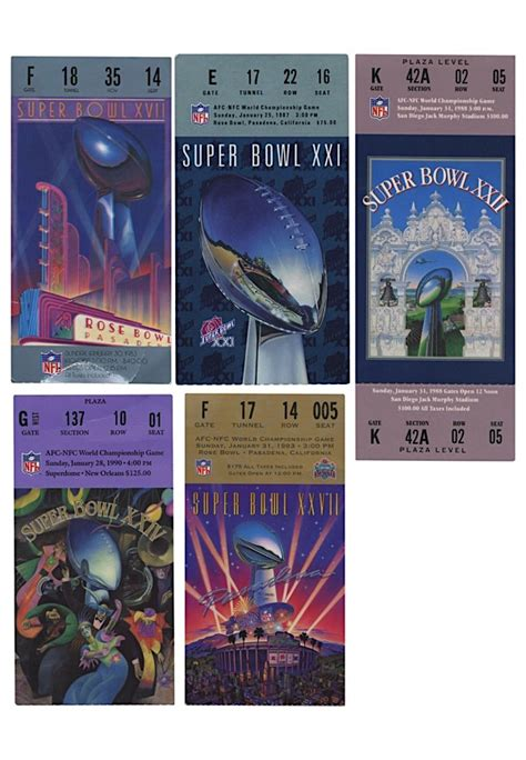 Lot Detail Collection Of Super Bowl Tickets And Ticket