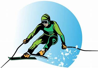 Skier Cartoon Vector Skiing Cliparts Background Vp
