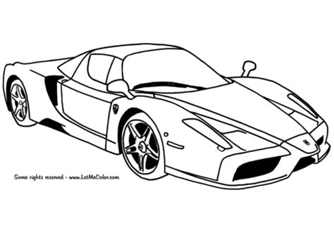 ferrari enzo car coloring page  printable coloring pages