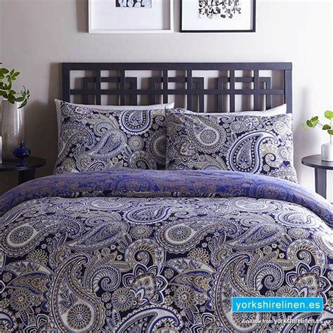 Luxury Topaz Paisley Duvet Cover Set Yorkshire Linen