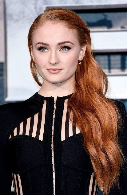 create sophie turners red hair color   salon