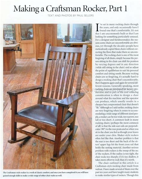 craftsman rocking chair plans craftsman rocking chairs