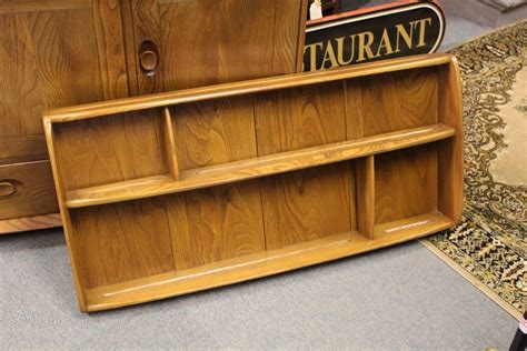 antiques atlas ercol wall mounted shelf unit plate rack