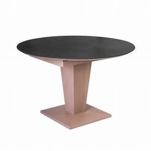 Table Ronde Extensible Bois : table ronde moderne extensible en c ramique et bois ~ Teatrodelosmanantiales.com Idées de Décoration