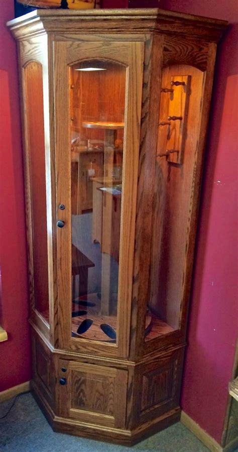 gun carousel corner gun cabinet amish traditions wv