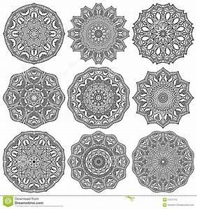 Henna Muster Schablone : mandala rundes verzierungs muster stock abbildung bild 51317172 ~ Frokenaadalensverden.com Haus und Dekorationen