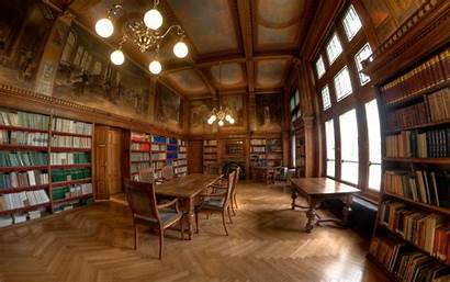 Library Libraries Wallpapers Wood Flooring Classic Furniture