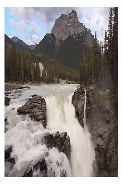 Gifs Water Fall Waterfalls Mountain Nature Natural