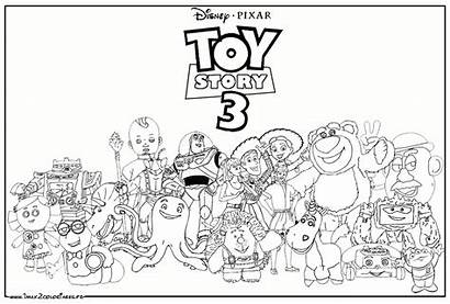 Toy Coloring Story Woody Buzz Rex Lightyear