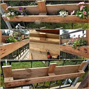 Balkon Blumenkasten Holz : diy europaletten blumenkasten so bauen sie einen dekorativen blumenkasten balkon ~ Orissabook.com Haus und Dekorationen