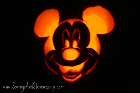 Vire Mickey Mouse Pumpkin Template by Savings Stewardship Do It Yourself Pumpkin