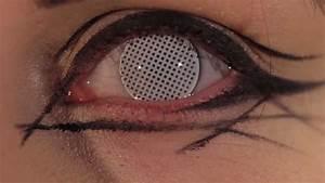White Mesh Coloured Contact Lenses - YouTube