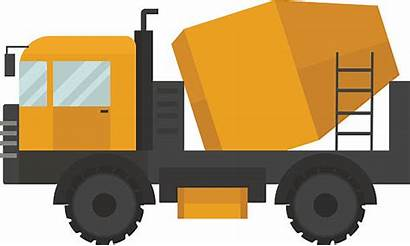 Cement Vector Truck Concrete Mixer Construction Machine
