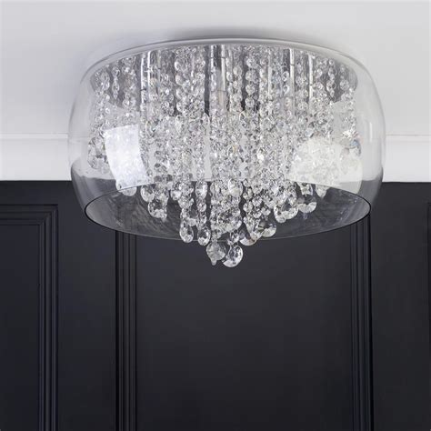 bathroom ceiling light marquis by waterford nore led large encased flush