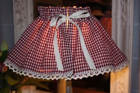 kit de cr 233 ation couture jupon abat jour tissu carreaux la po 233 sie du pass 233