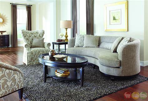 blair fawn transitional kidney sofa living room set