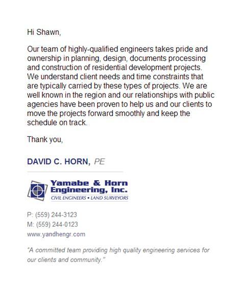 yamabe horn engineering  email signature design