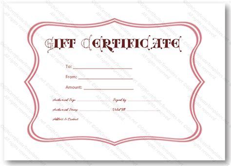 black flower gift certificate template gift certificates