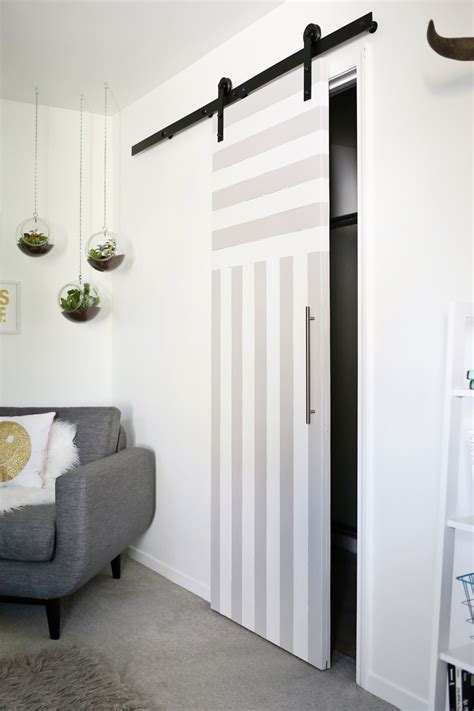diy sliding door sliding door solution for small spaces a beautiful mess