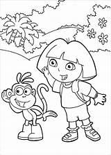 Dora Coloring Things Cartoon Learn Explorer Dibujos Exploradora Colorear Series Stumble Tweet sketch template