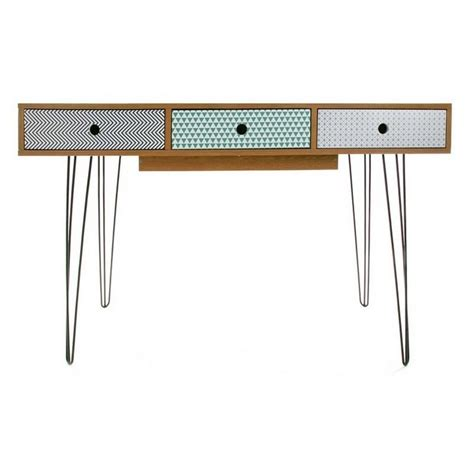 table de bureau but table de bureau design scandinave 3 tiroirs multicolores