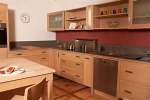 Meuble Cuisine Bois Naturel : meuble cuisine en bois cuisine en image ~ Teatrodelosmanantiales.com Idées de Décoration