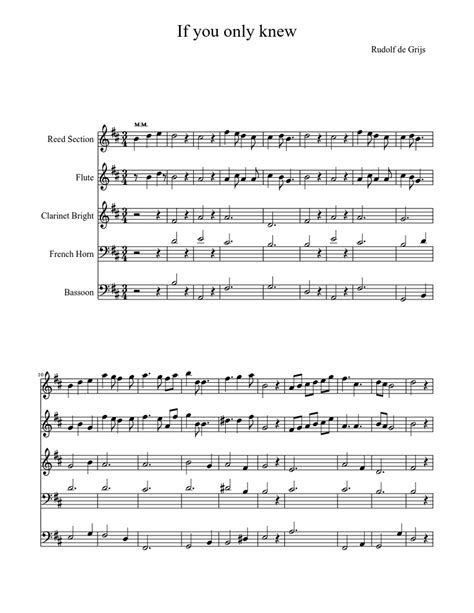 If You Only Knew Sheet Music For Flute Bassoon Woodwind