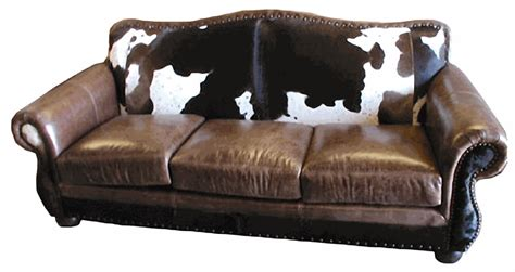 Cowhide Leather Sofa by Rustic Cowhide Sofas Rustic Sofas Rustic Couches Free