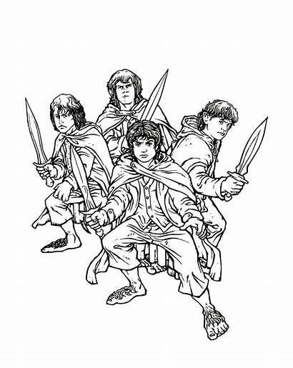 Lord Coloring Rings Pages Ring Hobbit Colouring