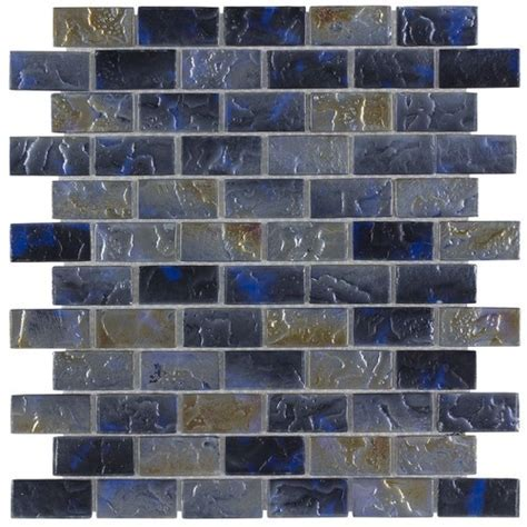Iridescent Pool Glass Tile Volcano 1x2   Mineral Tiles