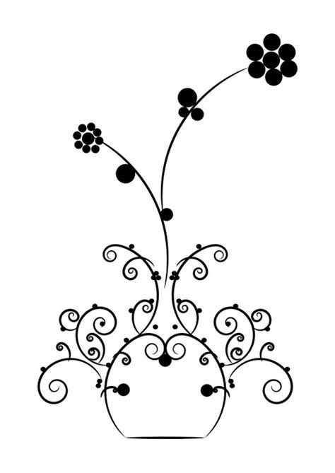 malvorlage blumen  vase ausmalbild