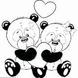 Panda Coloring Pages Cute Pandas Cartoon Baby Animal Romantic Couple Bear Printable Valentine Getcolorings Easy Print Getdrawings Drawings Adult Teddy sketch template