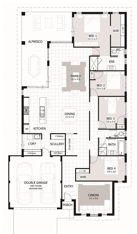 Home Design Plans by 4 Bedroom House Plans Home Designs Celebration Homes