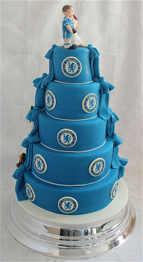 Chocolate And Chelsea Fc Wedding Cake!!! ) Flickr