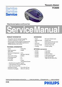Philips Fc8600 Vacuum Cleaner Service Manual Download
