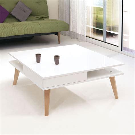 table bout de canapé table basse pieds inclinés 2 tiroirs blanc 2096a2119l00