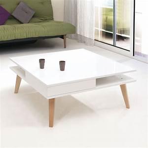 Table Basse 3 Pieds : table basse pieds inclin s 2 tiroirs blanc 2096a2119l00 achat vente table basse sur ~ Teatrodelosmanantiales.com Idées de Décoration