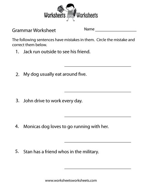 grammar practice worksheet worksheets worksheets