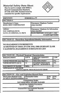Msds worksheet worksheets releaseboard free printable for Material safety data sheet template free